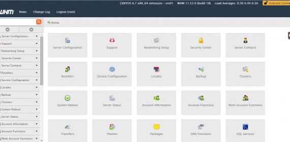 Limitando  os ícones que aparecem no cPanel através Feature Manager
